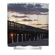Pompano Beach Fishing Pier At Sunrise Florida Shower Curtain