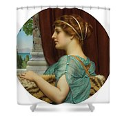 Pompeian Lady Shower Curtain