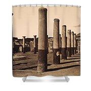 Pompeii, Excavation Shower Curtain