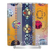 Pompoms 3 Shower Curtain