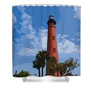 Ponce Inlet Light Shower Curtain