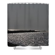Ponce Inlet Pier Shower Curtain