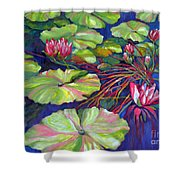 Pond 8 Pond Series Shower Curtain