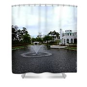 Pond At Alys Beach Shower Curtain by Megan Cohen