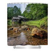 Pond At Mabry Mill Shower Curtain