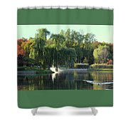 Pond At Mae Stecker Park In Shelby Township Mi  Shower Curtain