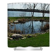 Pond By The Lake Shower Curtain