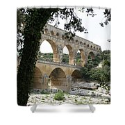 Pond Du Gard II Shower Curtain
