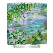 Pond In The Morning Shower Curtain