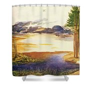 Pond In The Wood Shower Curtain