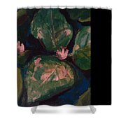 Pond Leaves Shower Curtain