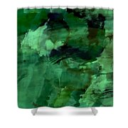 Pond Life Abstract Shower Curtain