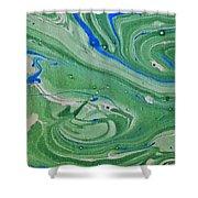 Pond Swirl 1 Shower Curtain