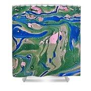 Pond Swirl 2 Shower Curtain