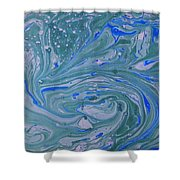 Pond Swirl 3 Shower Curtain