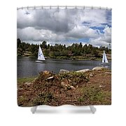 Pond View Shower Curtain