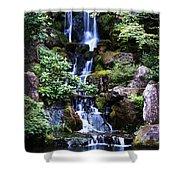 Pond Waterfall Shower Curtain