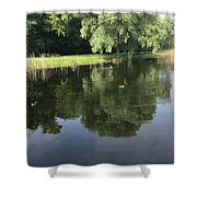 Pond With Ducks Shower Curtain