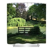 Pond With Water Ridge Shower Curtain