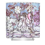 Ponder By The Pond Shower Curtain