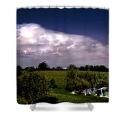 Pondsky At Night Shower Curtain