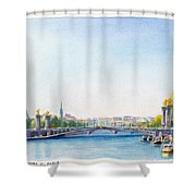 Pont Alexandre IIi Or Alexander The Third Bridge Over The River Seine In Paris France Shower Curtain