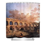 Pont Du Gard Shower Curtain