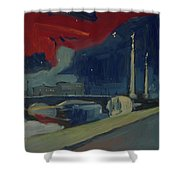 Pont Fragnee In Liege Shower Curtain
