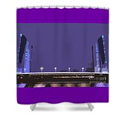 Pont Jacques Chaban-delmas Abstraction Shower Curtain