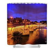 Pont Neuf At Night Shower Curtain