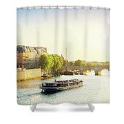 Pont Neuf In Sunset Light Shower Curtain