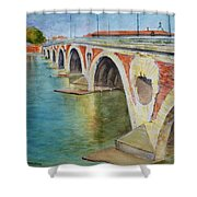 Pont Neuf Sur La Garonne At Toulouse Shower Curtain