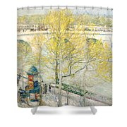 Pont Royal Paris Shower Curtain by Childe Hassam