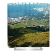 Ponta Delgada And Lagoa Shower Curtain