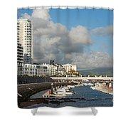Ponta Delgada Waterfront Shower Curtain