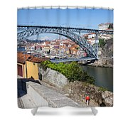 Ponte Luiz I Between Porto And Gaia In Portugal Shower Curtain