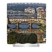 Ponte Vecchio - Florence Shower Curtain by Joana Kruse