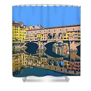 Ponte Vecchio Florence Shower Curtain
