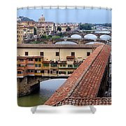 Ponte Vecchio From Uffizi                Shower Curtain