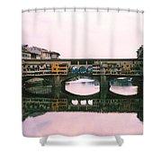 Ponte Vecchio Sunset Photograph Shower Curtain