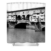 Ponte Vicchio Bridge In Florence Italy - C 1905 Shower Curtain