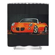 Pontiac Solstice Shower Curtain