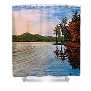 Pontoosuc Lake Pittsfield Ma Shower Curtain