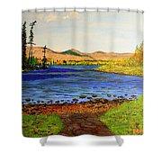 Pontoosuc Lake Pittsfield Massachusetts Shower Curtain