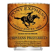 Pony Express Wanted Poster Shower Curtain