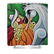 Pony Girl #1 Shower Curtain