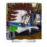 Pony Carousel - Pony Series 6 Shower Curtain