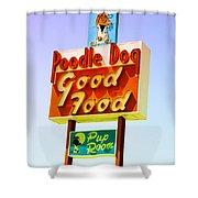 Poodle Dog Diner Shower Curtain
