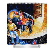 Pooka Hill 7 Shower Curtain by Hanne Lore Koehler