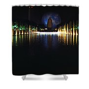 Pool And Perisphere Shower Curtain